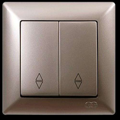 VS2825109 Выкл. 2-клав. проходной бежевый металлик 01 28 25 00 100 109