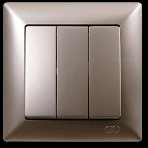 VS2825160 Выкл. 3-клав. бежевый металлик 01 28 25 00 100 160