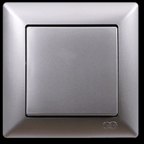 2815101 VISAGE выкл.1 клав сереб .(12шт). 01 28 15 00 100 101