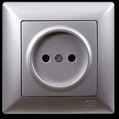 VS2815113 Розетка 1х серебряный металлик 01 28 15 00 100 113