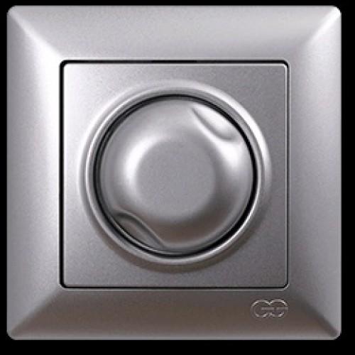 VS2815127 Светорегулятор 1000Вт с подсв. серебряный металлик 01 28 15 00 100 127