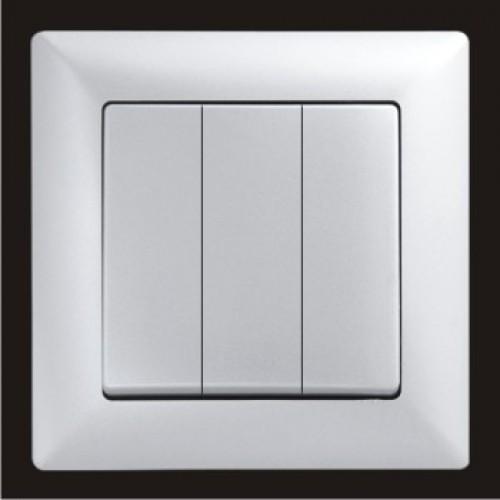 VS2815160 Выкл. 3-клав. серебряный металлик 01 28 15 00 100 160