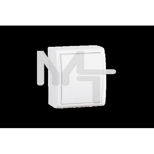 Выключатель одноклавишный с подсветкой, IP54 10А, 250В, винтовой зажим, S15A, белый 1594104-030