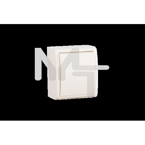 Выключатель одноклавишный, IP54, 10А 250В, винтовой зажим, S15A, слоновая кость 1594101-031