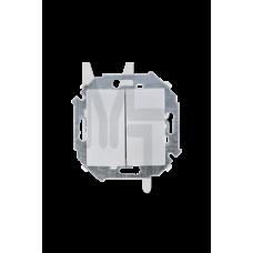 Выключатель двухклавишнный проходной (переключатель) , 16А, 250В, винтовой зажим, алюминий 1591397-033