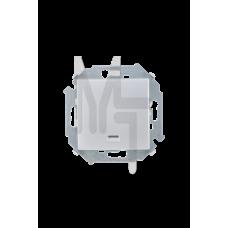 Выключатель одноклавишный с подсветкой,  16А, 250В, винтовой зажим, алюминий 1591104-033