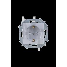 Розетка 2P+E Schuko, 16А, 250В, винтовой зажим, алюминий 1591432-033