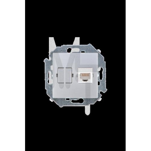 Розетка компьютерная RJ45 кат.5е , алюминий 1591598-033