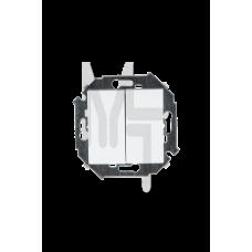 Выключатель двухклавишный , 16А, 250В, винтовой зажим, белый 1591398-030