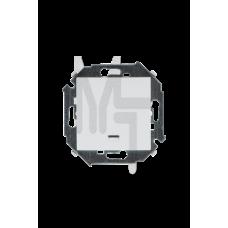 Выключатель одноклавишный с подсветкой, 16А 250В, винтовой зажим, белый 1591104-030