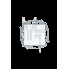 Выключатель трехклавишный, 10А 250В, винтовой зажим, белый 1591391-030