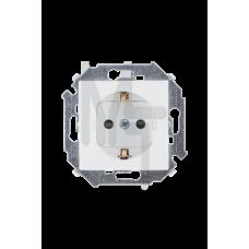 Розетка 2P+E Schuko , 16А, 250В, винтовой зажим, белый 1591432-030