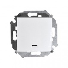 Выключатель одноклавишный с подсветкой, с рамкой, 16А, 250В, винтовой зажим, белый 1590104-030