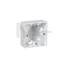 Коробка для наружного монтажа 1 пост, белый 1590751-030