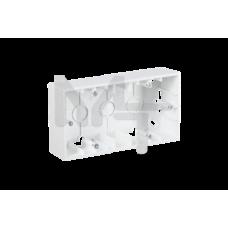 Коробка для наружного монтажа 2 поста, белый 1590752-030