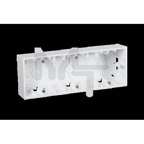 Монтажная коробка для накладного монтажа, 3 поста, белый 1590753-030