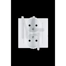 Розетка двойная 2Р, 16А, 250В, винтовой зажим, белый 1590457-030