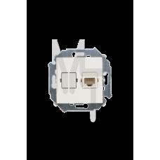 Розетка компьютерная RJ45 кат.5е, слоновая кость 1591598-031