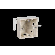 Монтажная коробка для накладного монтажа, 1 пост, слоновая кость 1590751-031
