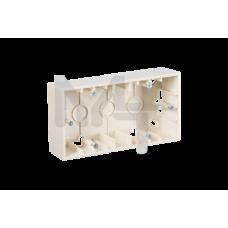 Коробка для наружного монтажа 2 поста, слоновая кость 1590752-031