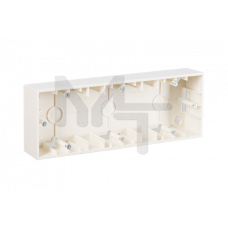 Коробка для наружного монтажа 3 поста, слоновая кость 1590753-031