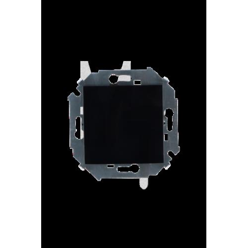 Выключатель одноклавишный, 16А, 250В, винтовой зажим, черный 1591101-032