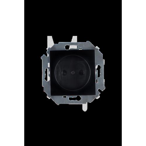 Розетка 2P, 16А, 250В, винтовой зажим, черный 1591431-032