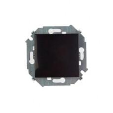 Выключатель одноклавишный с рамкой, 16А, 250В, винтовой зажим, черный 1590101-032