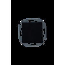 Выключатель проходной (переключатель) с рамкой, 16А, 250В, винтовой зажим, черный 1590201-032
