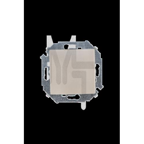Выключатель проходной (переключатель), 16А, 250В, винтовой зажим, шампань 1591201-034