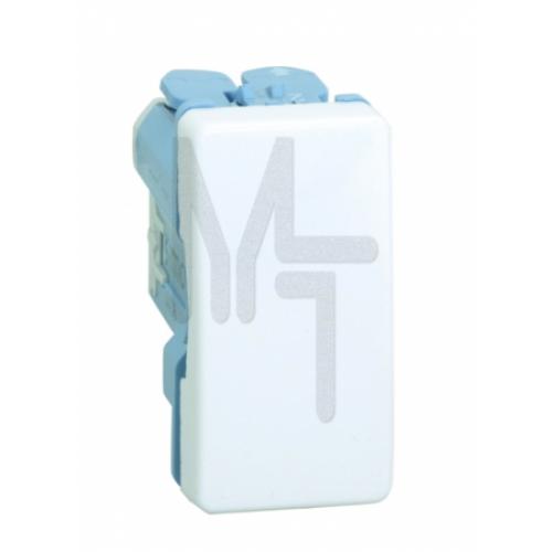 Выключатель однополюсный узкий, 10А 250В, S27, белый 27101-64