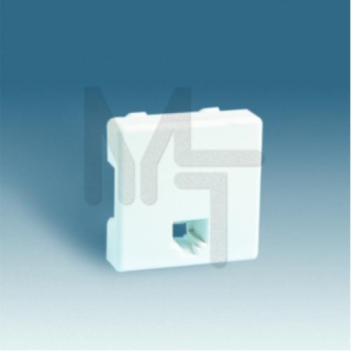 Розетка телефонная RJ-11, S27, белый 27480-35