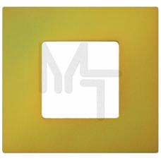 Декоративная накладка на рамку-базу, 1 пост, S27Pl, Артик жёлтый (10130080/060214/0001155/2, ИСПАНИЯ 2700617-081