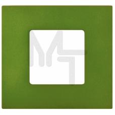 Декоративная накладка на рамку-базу, 1 пост, S27Pl, Артик зеленый (10130080/060214/0001155/2, ИСПАНИ 2700617-084