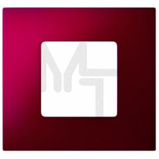 Декоративная накладка на рамку-базу, 1 пост, S27Pl, Артик красный (10130040/030315/0001106/1, ИСПАНИ 2700617-080