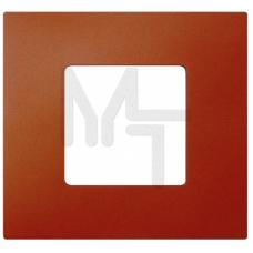 Декоративная накладка на рамку-базу, 1 пост, S27Pl, Артик оранжевый (10130080/060214/0001155/2, ИСПА 2700617-082