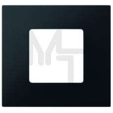 Декоративная накладка на рамку-базу, 1 пост, S27Pl, Артик чёрный (10130150/201212/0028680/2, ИСПАНИЯ 2700617-086