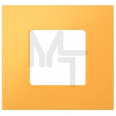 Декоративная накладка на рамку-базу, 1 пост, S27Pl, жёлтый (10130040/290115/0000388/3, ИСПАНИЯ) 2700617-062