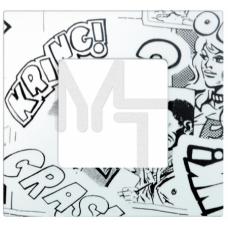 Декоративная накладка на рамку-базу, 1 пост, S27Pl, комиксы (10130040/290115/0000388/3, ИСПАНИЯ) 2700617-800