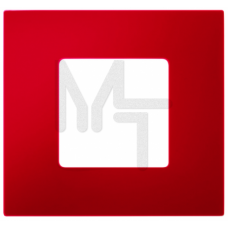 Декоративная накладка на рамку-базу, 1 пост, S27Pl, красный (10130210/251214/0029100/4, ИСПАНИЯ) 2700617-037