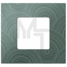 Декоративная накладка на рамку-базу, 1 пост, S27Pl, серое солнце (10130040/161214/0009095/5, ИСПАНИЯ 2700617-805