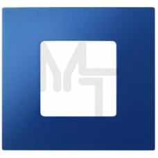 Декоративная накладка на рамку-базу, 1 пост, S27Pl, синий (10130080/060214/0001155/2, ИСПАНИЯ) 2700617-064