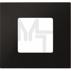 Декоративная накладка на рамку-базу, 1 пост, S27Pl, черный (10130040/290115/0000388/3, ИСПАНИЯ) 2700617-071