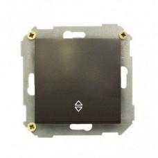 Выключатель проходной (переключатель), 10А, 250В, графит 34201-038