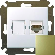 Розетка компьютерная RJ45 кат.5е,бронза 34598-036