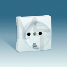 Накладка со шторками на розетку с заземлением, S73 Loft, белый 73041-60
