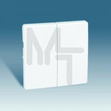 Клавиши (2 шт) для двухклавишного выключателя (проходной + кнопочный), S82, S82N, алюминий 82026-33