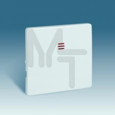Клавиша для кнопочного выключателя с подсветкой, S82, S82N, S82 Detail, белый 82011-30