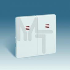 Комплект накладок (2 шт) для 2-х клав. мех. с подсв., S82,82N, графит 82025-38