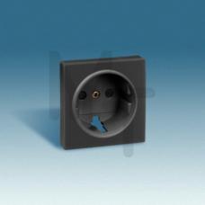 Накладка на розетку двухполюсную с заземляющим контактом, с защитными шторками, S82, S82N, S82 Detai 82041-38